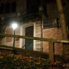 Pädagogium-Aula, nachts, draußen