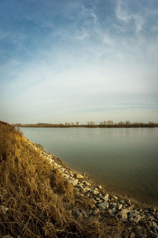 Stadt, Land, Fluss - ohne Stadt, dafür Himmel