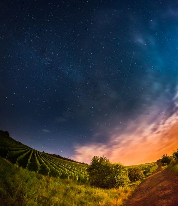 Flug durch Milchstraße und Weinberge (Aus der Reihe: Nachts sind alle Welten bunt)