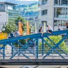 Abhängebrücke in Freiburg 1
