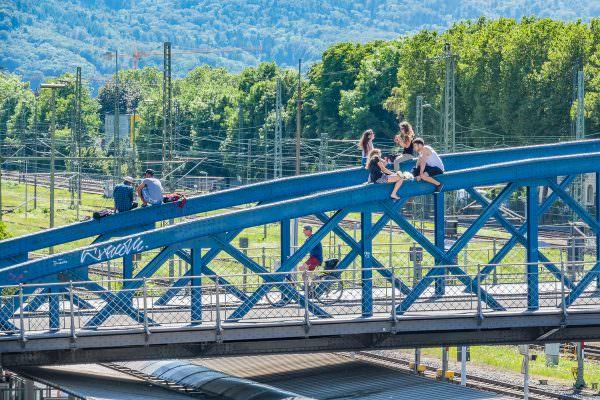 Abhängebrücke in Freiburg 2