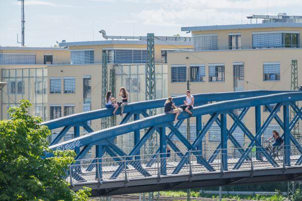 Abhängebrücke in Freiburg 3